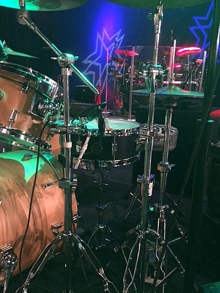 Del Gray's live kit with Little Texas-Opening for Travis Tritt-2017-Beier 1.5 Steel--5.5 x 14~~