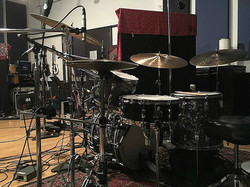 Kevin Brown's (Show Ponies) vintage Rogers kit with one of his mains-Beier 1.5 Steel--5.5 x 15....