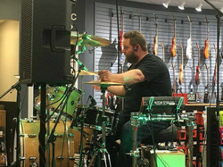 Chad Melchert in his clinic at Long & McQuade-Edmonton South-Beier 1.5 Steel--6.5 x 14~