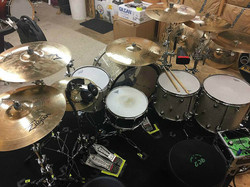 Michael Foster's kit with his Beier 1.5 Steel--6.5 x 14...Recording a new single with Bill Leverty..