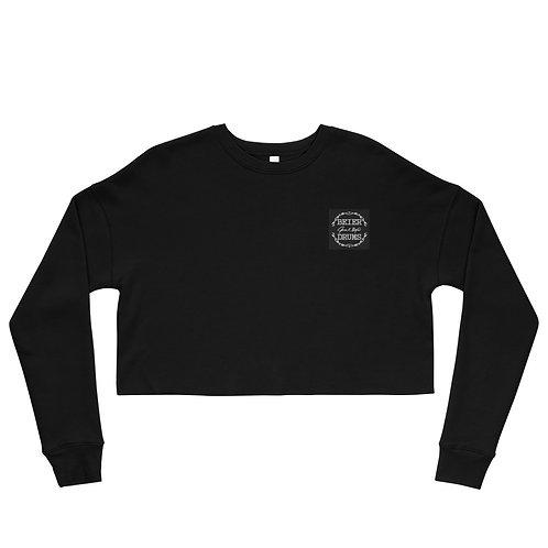 Embroidered Ladies Crop Sweatshirt