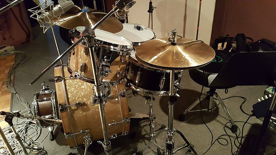 Chad Melchert's new Gretsch Broadkaster kit in the studio in Canada-Beier 1.5 Steel--6.5 x 14...