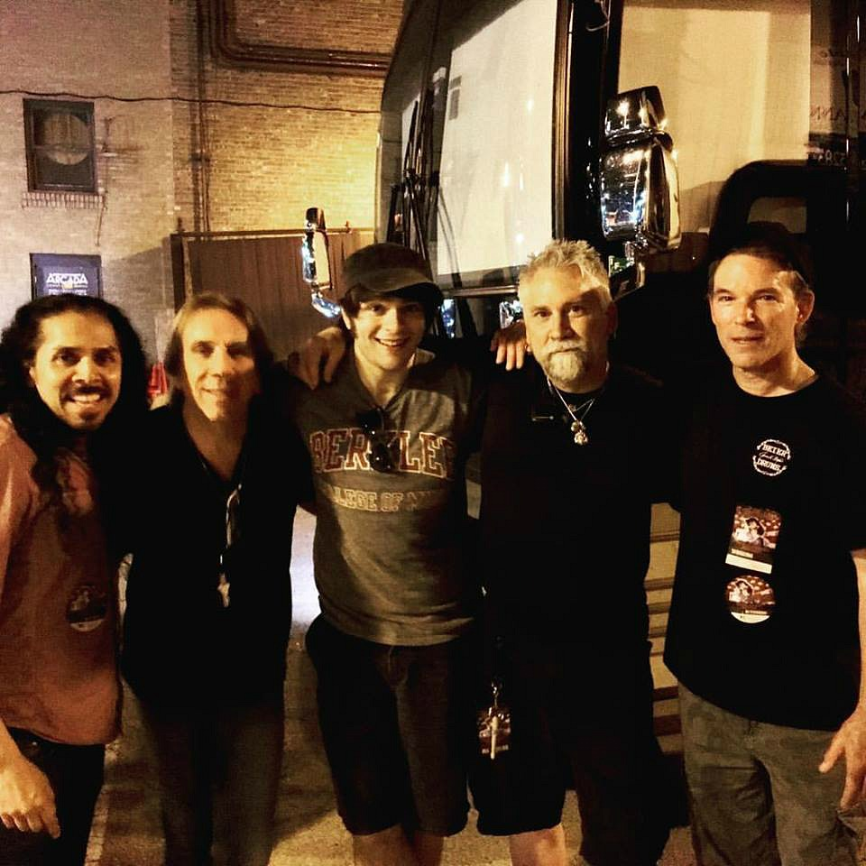With Vic Salazar, Troy Luccketta, Jason Hartless & Randy Walker in Chicago at a Ted Nugent show...