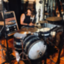 Erik Eldenius (Billy Idol) in the studio