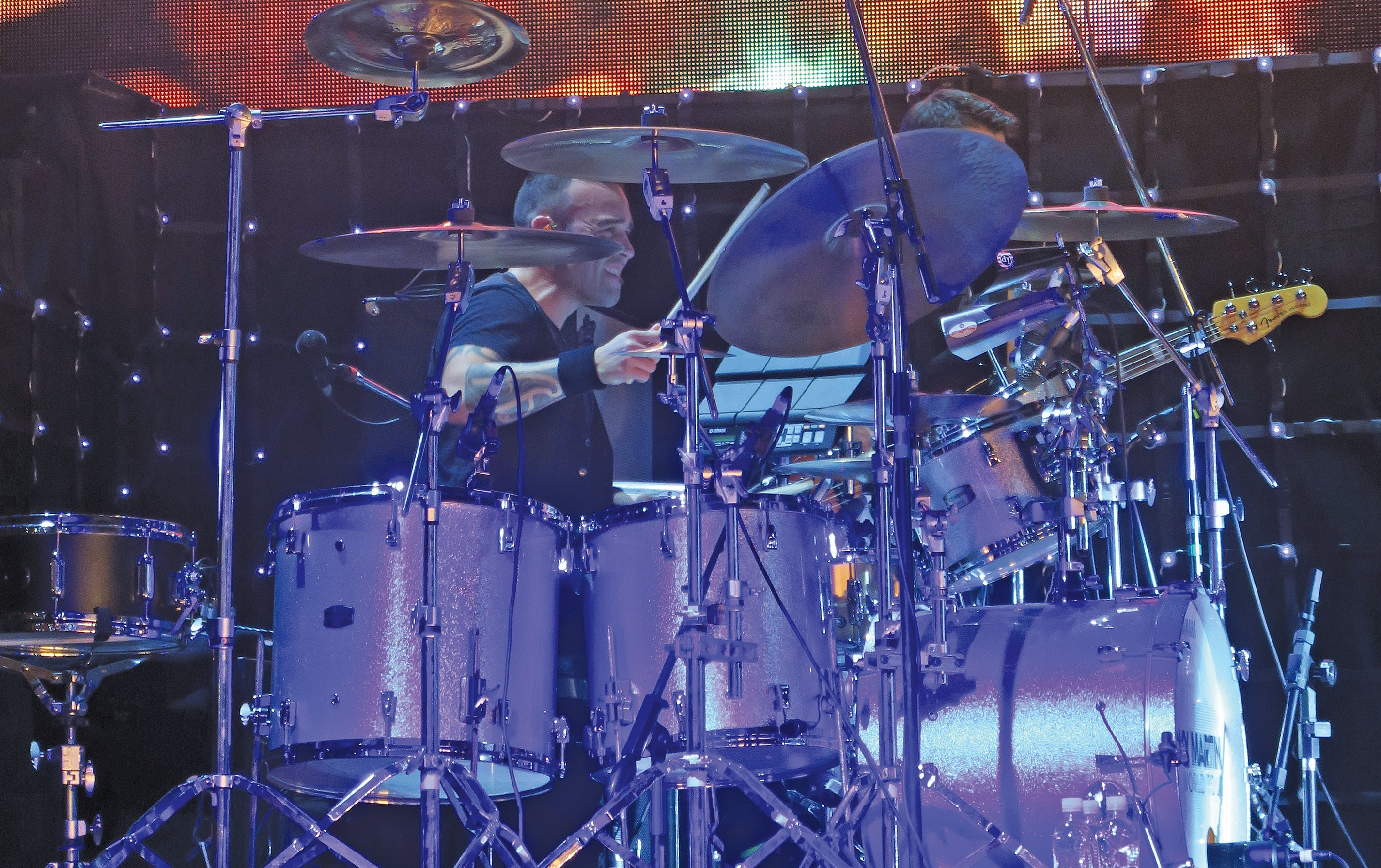 Tony Escapa live with Ricky Martin in Las Vegas....Beier 1.5 Steel--6.5 x 14-