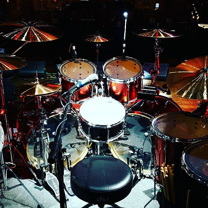 Andy Parker's kit for the 2017 UFO Tour with Saxon-Spring Valley, NV.-Beier 1.5 Steel--6.5 x 14...