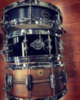 Kyle Todd's touring snare drums for the