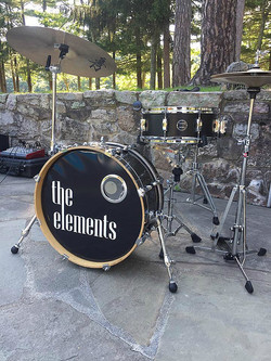 Steve Fruda's set-up for small Jazz-Cocktail music with his Beier 1.5 Steel--5.5 x 14......