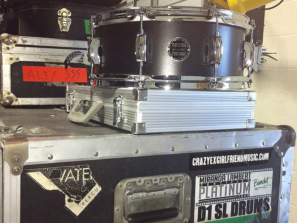 Keith Zebroski's Beier 1.5 Steel--5.5 x 14-In rehearsals for Miranda Lambert's Highway Vagabond Tour