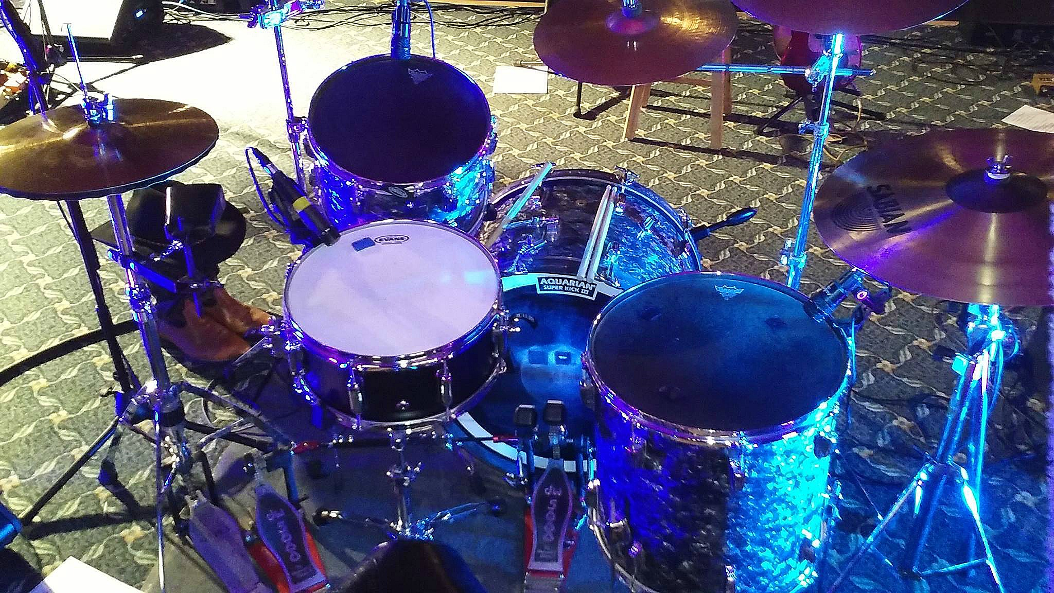 Bob ML Tressler's kit-Strand Theater-Hudson Falls, N.Y.,Whiskey River Band-Beier 1.5 Steel--6.5 x 14