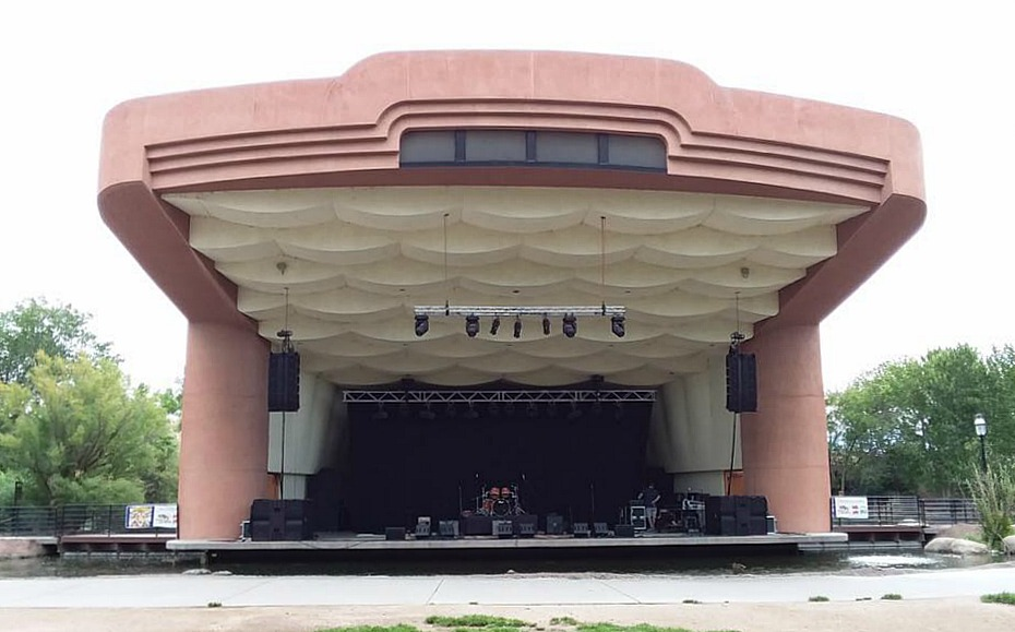 Stage for Pure Prairie League-Albuquerque, N.M., 2017-Scott Thompson-Beier 1.5 Steel--4 x 15....