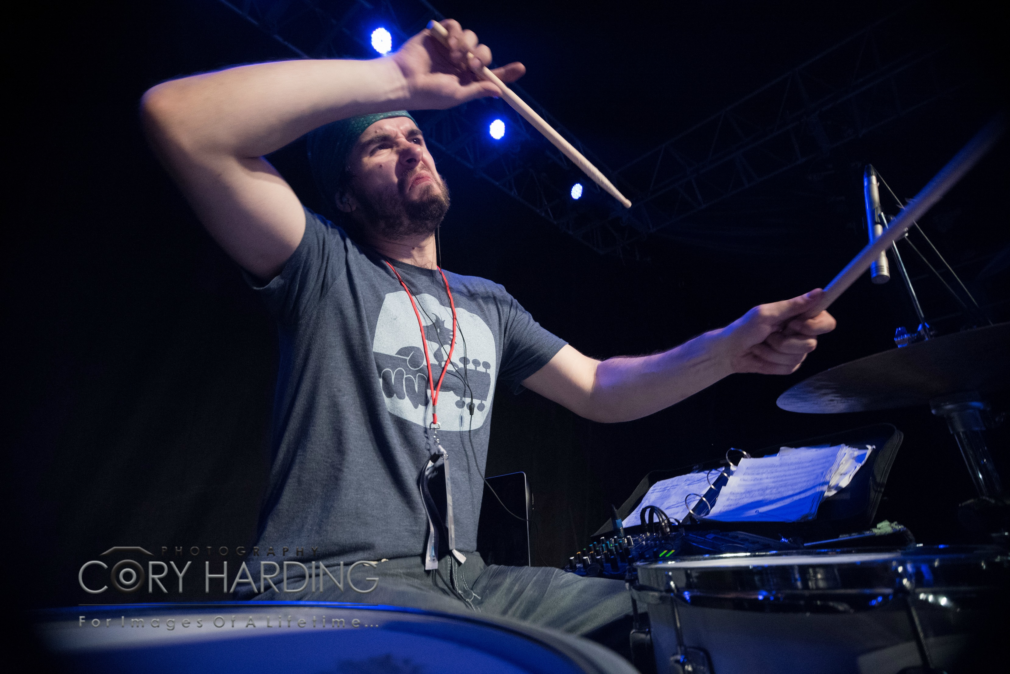 Dan Levasseur live at Tail Creek Festival-Canada-Beier 1.5 Steel-6.5 x 14. Cory Harding Photography-