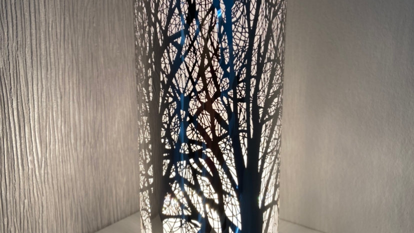 White And Silver Touch Sensitive Aroma Lamp