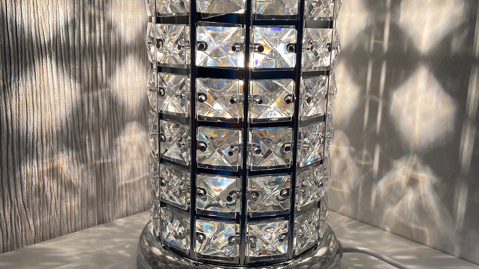 Silver Crystal Touch Sensitive Aroma Lamp