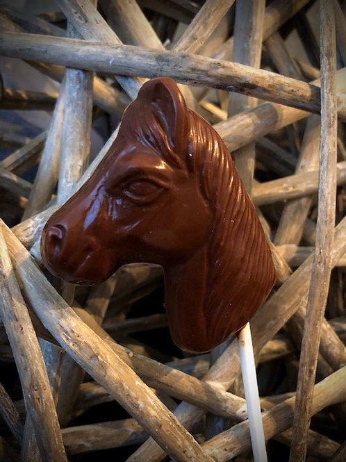 Pferdekopflolli aus Schokolade       20g