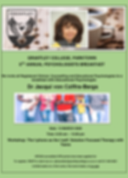 Psychologist Breakfast 2020 - Programme