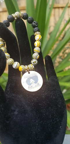Black and yellow ambition bracelet