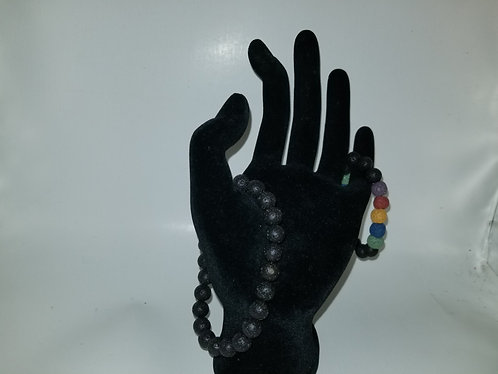 Essential oil lava stone bracelet
