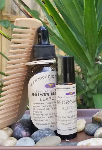 Men's Beard Oil and Cologne Roll On Set