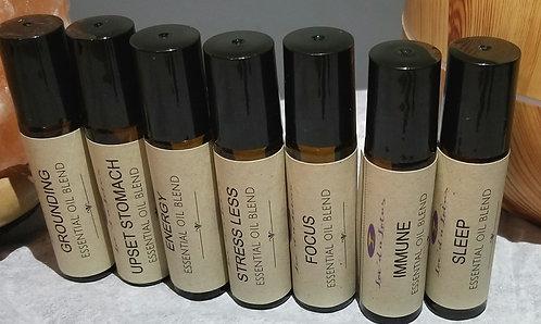 Roller ball essential oil blends