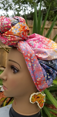 Everyday headwrap and earring set