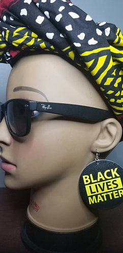 BLM earring and headwrap set