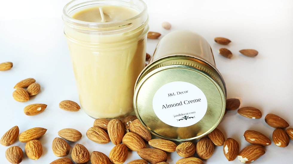 Almond Creme Scented 8 oz Candle