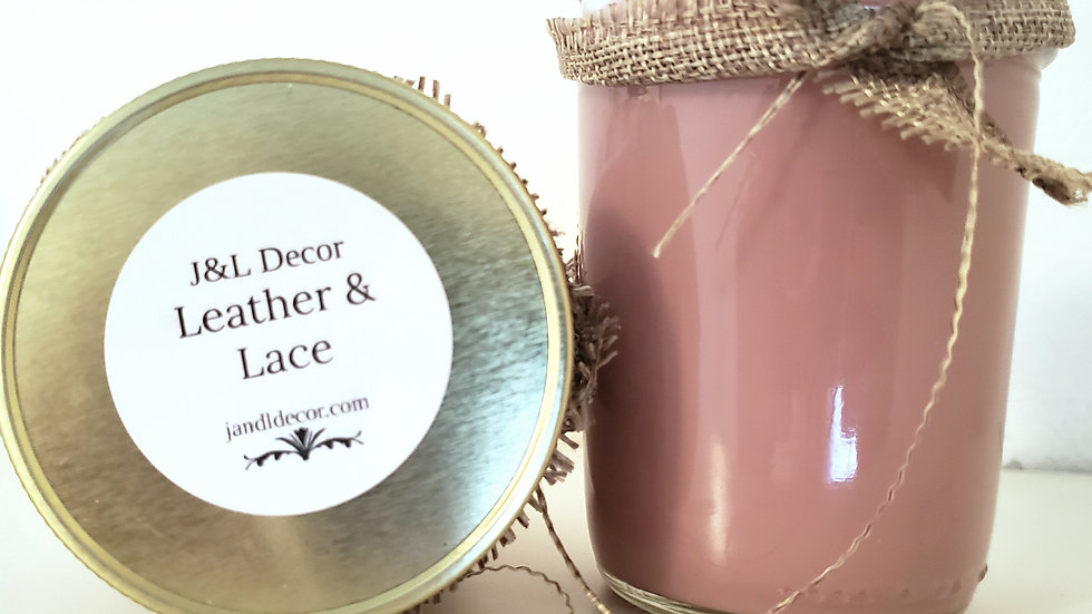 Leather & Lace Scented 8 oz Candle