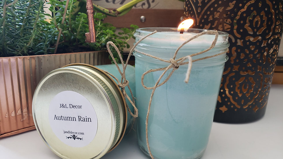 Autumn Rain Scented 8 oz Candle