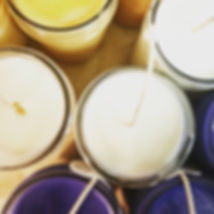 Picture of newly poured wholesale soy candles