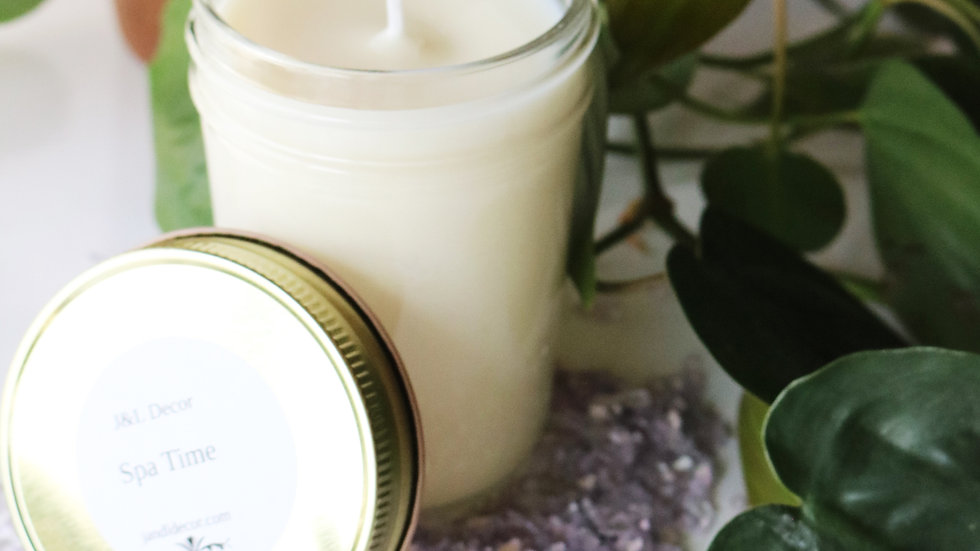 Spa Time 8 oz Soy Candle