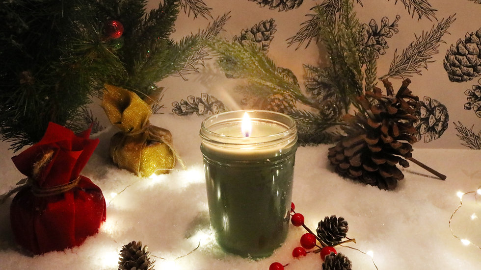 Christmas Scented 8 oz Soy Candles