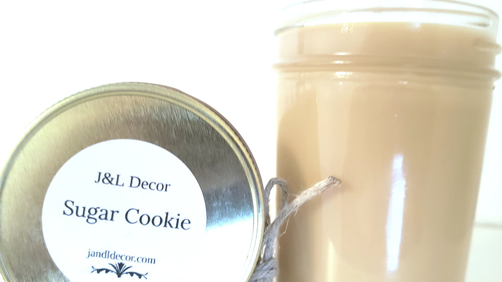 Sugar Cookie Scented 8 oz Candle