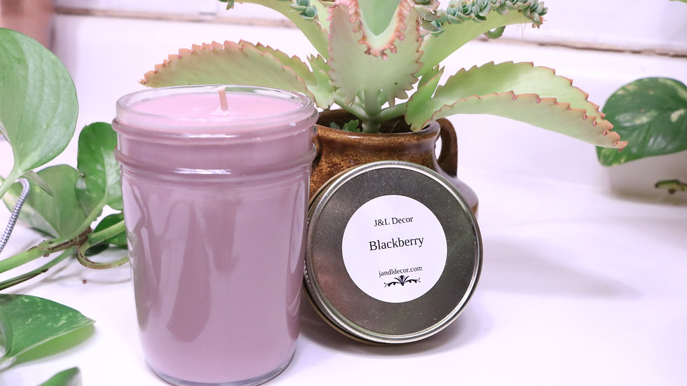 Blackberry 8 oz Scented Soy Candle