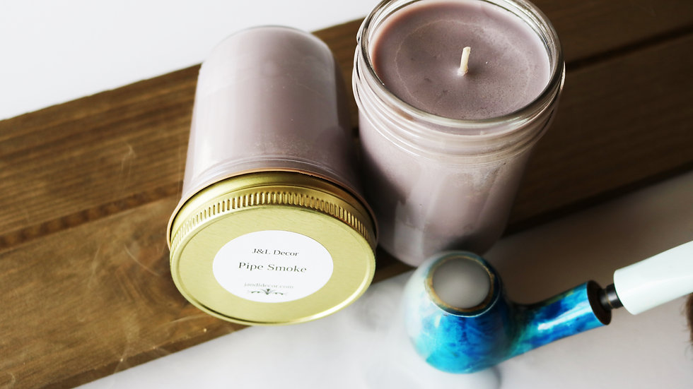 Pipe Smoke Scented 8 oz Candle