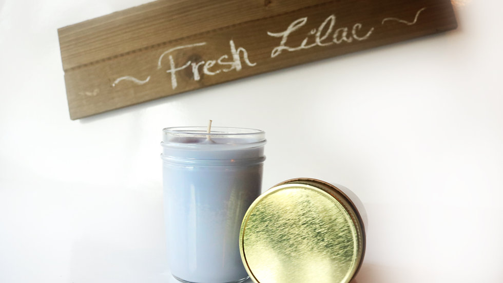 Fresh Lilac 8 oz Soy Candle