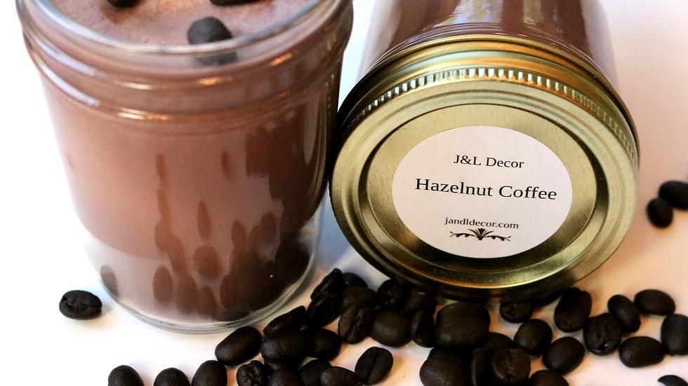 Hazelnut Coffee Scented 8 oz Candle