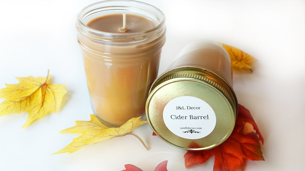 Cider Barrel Scented 8 oz Candle