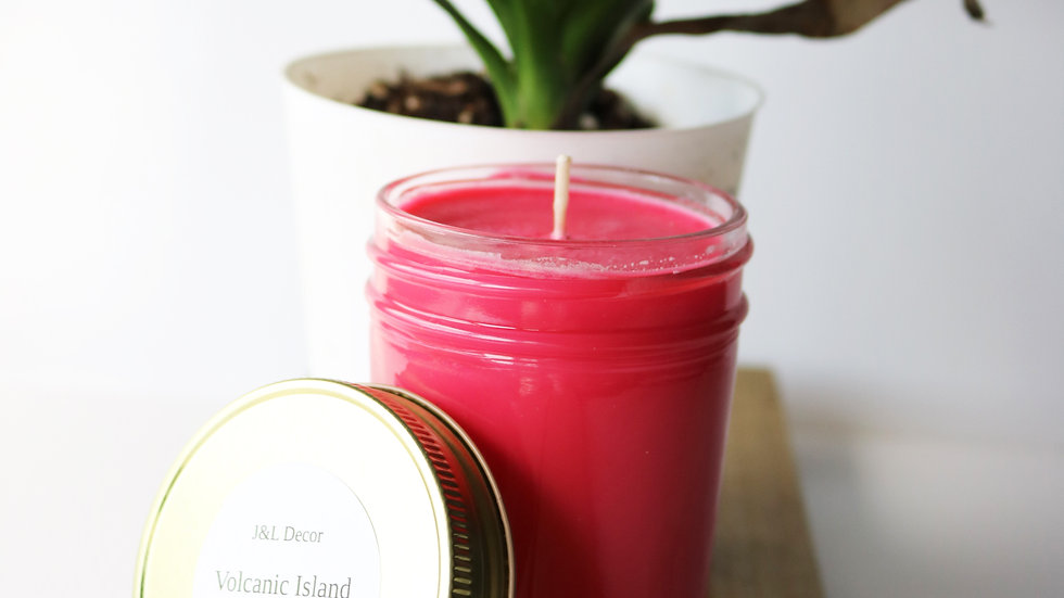 Volcanic Island Scented 8 oz Candle
