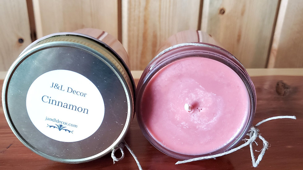 Cinnamon Scented 8 oz Candle