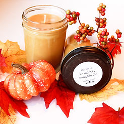 Hand Poured Grandmas Pumpkin Spice 8 oz Soy Candle, Wholesale prices fast and effecient shipping.