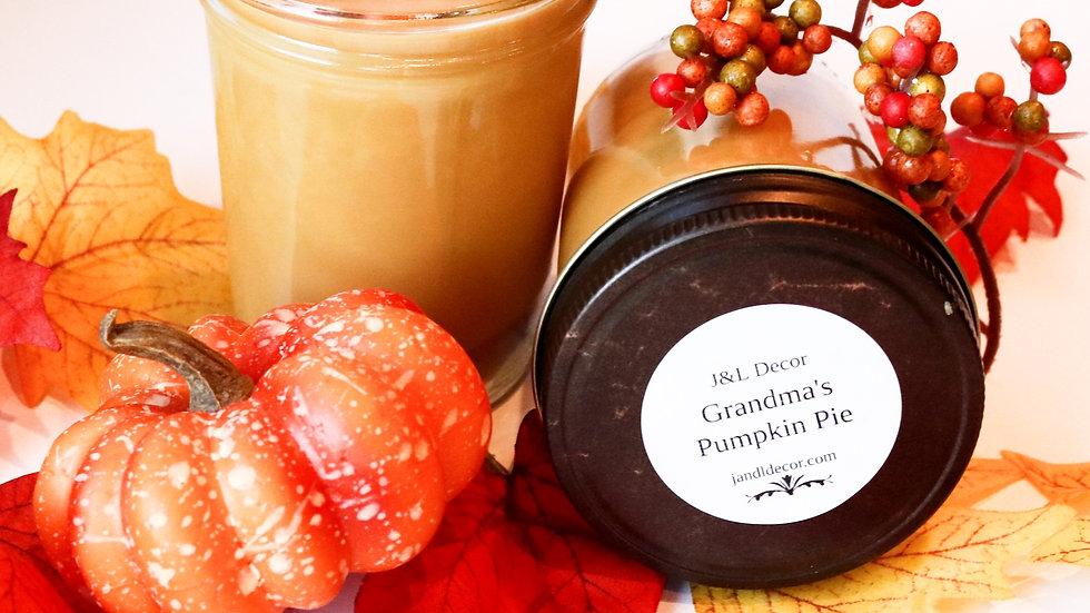 Grandma's Pumpkin Pie 8 oz Soy Candle