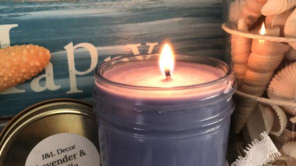 Lavender & Vanilla 8 oz Candle