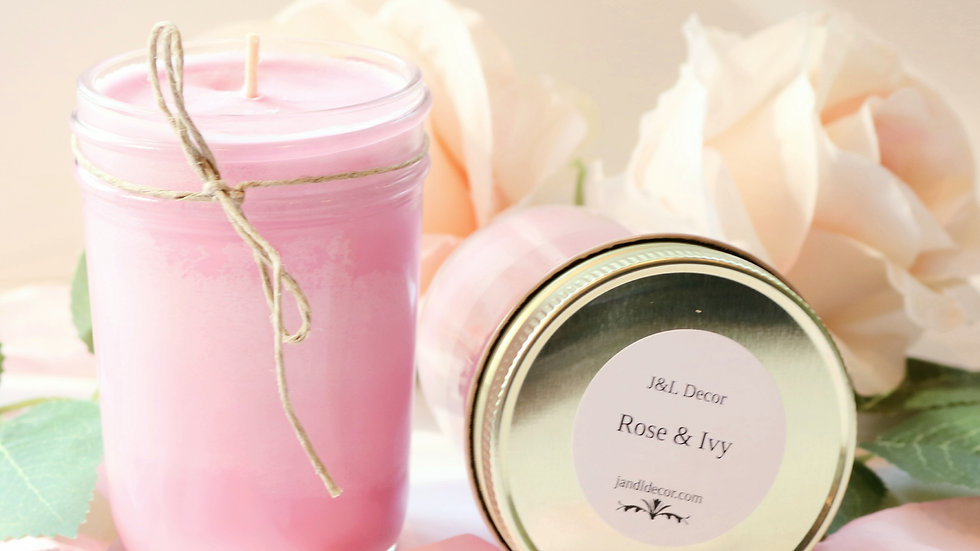 Rose & Ivy Scented 8 oz Candle