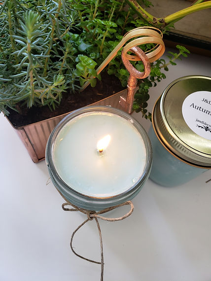 Autumn Rain Candle, Hand made 100% soy candle. Toxic free