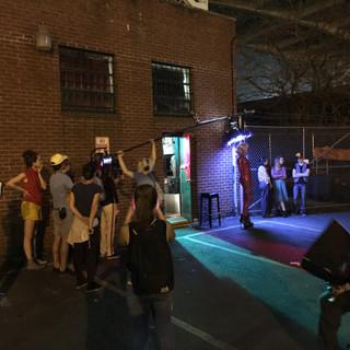 Feature Film Outside Club Scene