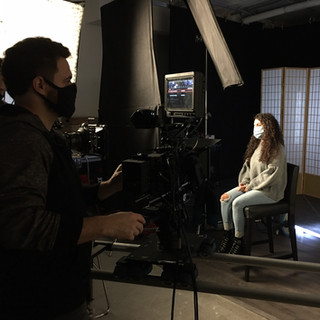 A&E setting up for studio shoot
