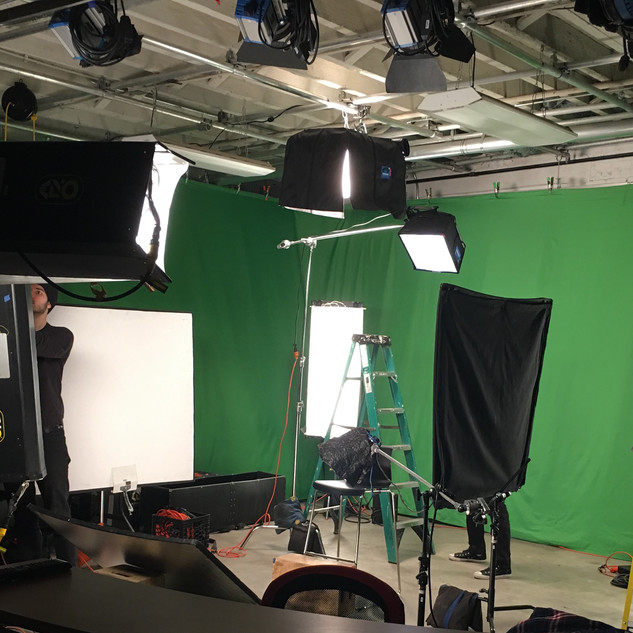 Green Screen Shoot for Entertainment One (before renovation)