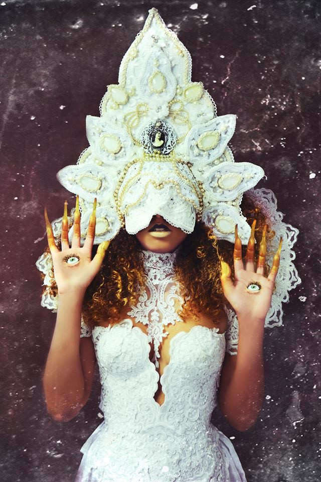 Model: Jostlyne Marie Erbaugh HMUA: Jesse Luxe Mask Designer: Patine Noire Collar Designer: Videnoir Corset Designer: Lory Sun Artistry Photographer: Christa Dickson Photography