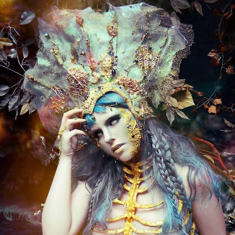 HMUA: Jesse Luxe Model: Kellsey Moore Photographer: Christa Dickson Photography Wardrobe: Lory Sun Artistry (corset) RTFX by Lauryn Macgregor (headdress)